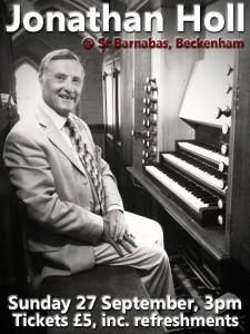 Jonathan Holl Organ Recital